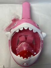 NEW DCYSO Dry Full Face Snorkeling Mask, Pink, Extra-Small (XS) SHARK