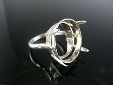 5618 Ring Setting Sterling Silver, Size 8.25, 22x16 Mm Oval Stone