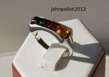 Anelli di lusso ambra argento sterling