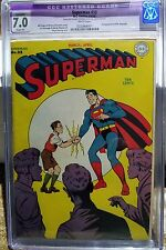 Superman #33 Golden Age White Pages!  CGC 7.0 Restored Grade