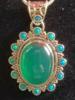 Sterling silver Green Agate Pendant