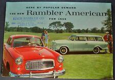 1959 Rambler American Sales Brochure Folder Wagon Nash AMC Nice Original 59