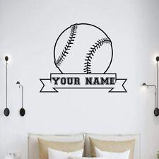 Baseball Wall Sticker Set Custom Vinyl Ball Life Decals For Windows Bedroom Art