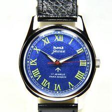 HMT Jawan Roman Metallic Blue Face Cal. 020 17 Jewels Hand Winding Wrist Watch