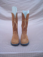 Falc Naturino Between Yellow & Brown Suede  Women Girls Boots 36 Italy