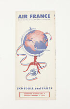 Air France Schedule and Fares Condensed Schedule Number 2 1956 Excellent