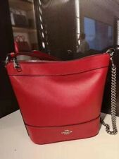 Coach Cardinal Red Leather Small Paxton Duffle Shoulder Crossbody F76668 NWT$328