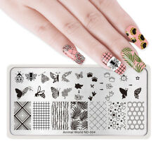 NICOLE DIARY Nail Art Stamping Plates Stamp Templates Butterfly Bee Geometry