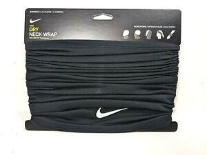 Nike Dry Running Wrap Neck Face Warmer Black Men's Women's New