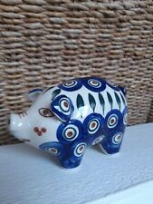 Bunzlauer Keramik Figur Sparschwein 9x7x14cm Muster 8 NEU
