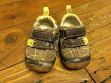 Boys Clark's First Shoes 3G Brown Check Suede