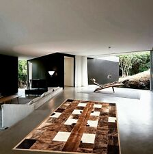 Cowhide Rug Patchwork Cowskin Cow Hide Leather Carpet. Made in Argentina.