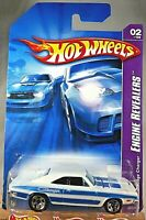 2007 Hot Wheels #58 Engine Revealers 2/4 1969 DODGE CHARGER White w/Chrome 5 Sp