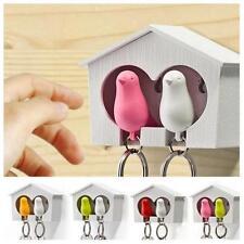 Lovely Bird House Nest Whistle Key Holder Chain Ring Keychain Keyring Hanger