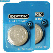 2 x Rayovac CR2430 batteries Lithium 3V Coin cell Watch ERC2430 BR2430