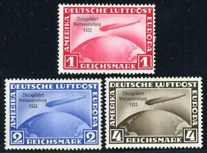 DR, MiNr. 496-498, Chicagofahrt, sauber ungebraucht, Mi. 1200,-