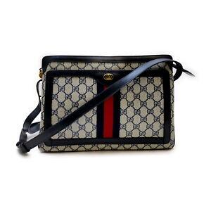 Gucci Shoulder Bag  Navy Blue PVC 1521023