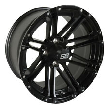 (1) Golf Cart Ss Voyager 14 inch Matte Black Wheel With 3:4 Offset