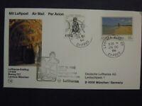 1st FLIGHT COVER LUFTHANSA LH 609 BOEING 727 LARNACA - MUNICH 26/10/1986 CYPRUS