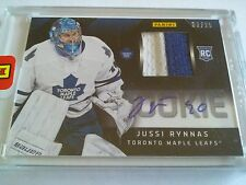 Jussi Rynnas 2012-13 Panini Stanley Cup Rookie Patch Auto /25 Maple Leafs