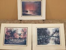 Tom Lynch Signed Limited Edition Lithography Collection Of 3 With CoA