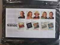 AUSTRALIA 2013 LEGENDS OF MUSIC SET 10 STAMPS FDC FIRST DAY COVER