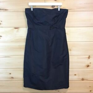 J.Crew | 100% Silk Navy blue Dress, bridesmaid dress, size T14 strapless bow