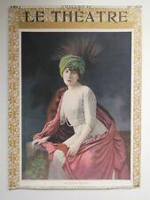 Rare LE THEATRE Magazine (cover only) No302 Mme Marthe Mellot 1911