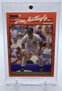 Rare DON MATTINGLY 1990 Donruss ERROR Card #190 NO DOT Inc Misprint Yankees HOF