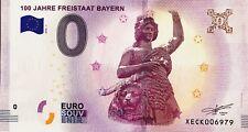 BILLET 0 ZERO EURO SCHEIN SOUVENIR 100 JAHRE FREISTAAT BAYERN 2018-1