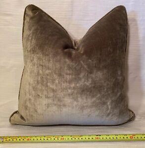 """16""""sq GP&J BAKER Essential Velvet Sisal ITALY Custom Pillow Cover $200 Retail"""