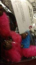 NIP  Kipling Baby  Monkey Key Chain Key Ring Bag Charm( Vibrant Pink)