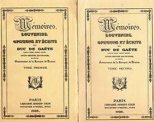 C1 NAPOLEON Memoires de GAUDIN Duc de GAETE Ministre des FINANCES Complet 3 vol.