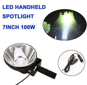 7INCH LED Handheld Spot Light Hunting Shooting Spotlight Camping Hiking 12V Lamp