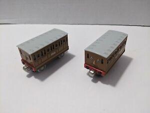 Thomas & Friends Diecast ANNIE & CLARABEL Take Along N Play Train EUC