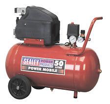 """NEW Sealey 50L Direct Drive Air Compressor 2Hp 116 PSI 1/4"""" BSP 240v SA5020"""