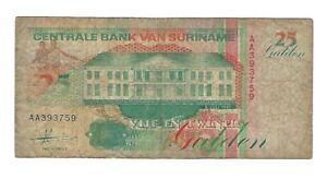 Suriname Billet 25 Gulden 1991 (20185)