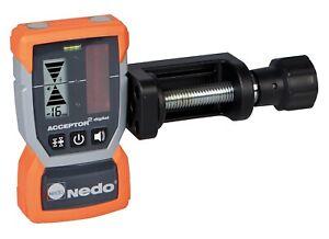 Nedo Laserempfänger ACCEPTOR² digital mm-Anzeige, Rotationslaser roter Strahl