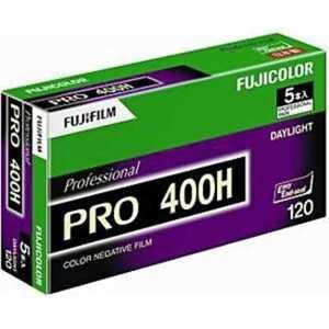 5 Rolls FUJIFILM FUJI PRO 400H Professional Color Negative Film 120 Roll Film