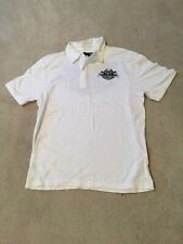 Vans White Polo Short Sleeve Shirt With Skulls Size L