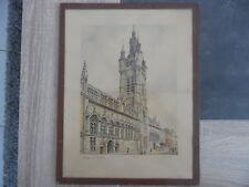 Lithographie signée Banday - Douai le Beffroi