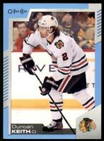 2020-21 UD O-Pee-Chee Blue Border #18 Duncan Keith - Chicago Blackhawks