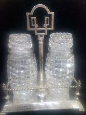 Victorian crystal pickle jars in stand arts crafts machintosh style