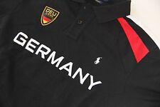 Polo Ralph Lauren Men Black Shirt Small Pony Germany Flag LARGE L  CUSTOM FIT