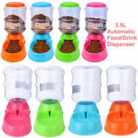 3.5L Automatic Pet Dog Cat Water Food Feeder Bowl Bottle Fountain Dispenser  L