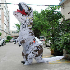 Inflatable White T-Rex DINOSAUR Adult Costume TRex funny Xmas game Party Dress