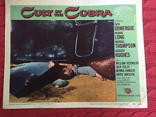 Cult Of The Cobra 1955 Universal-International horror lobbycard William Reynolds