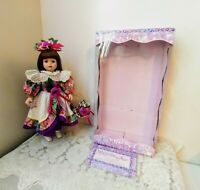 Victorian Collection Genuine Porcelain Doll 1998 Brass Key Inc. In Orig Box Vtg