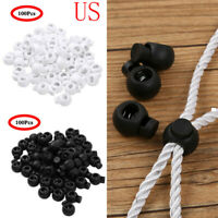 100/50 Toggle Spring Elastic Rope Cord Lock Clip End Stopper Sliding Button 2cm