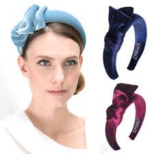 Korean Hairbands Velvet Solid Bow Knot Padded  Headband Wide Side Hair Hoop